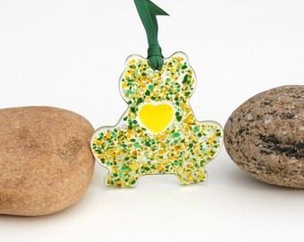 Fused Glass Frog Ornament, Fused Glass Frog Suncatcher