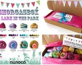 SMORGASBOX - A Lark in the Park - Sample box - 300g fibre - mini batts - mini samples