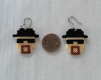 Heizenberg Walter White Breaking Bad Earrings made from mini Perler Beads #25989
