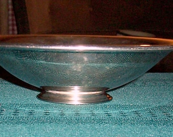 Vintage Silver Plate Candy Bowl - Footed - 1970s