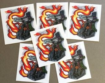 GTT Glassblowing Torch vinyl sticker set - v1- 6pc