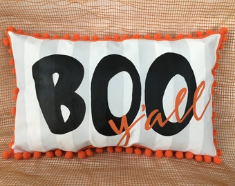 BOO Y'all Halloween decorative pillow