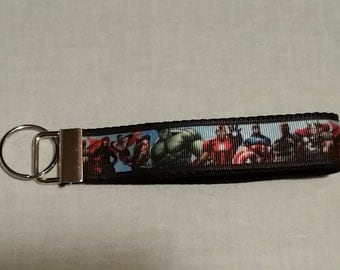 Handcrafted Avengers Key Chain Wristlet NEW