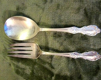 Wm. Rodgers Silver Plated  EXTRA PLATE Serving Set Vintage 1940's