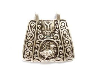 1 Oxidized Silver Folk Art Pendant/Charm - 21-53-7