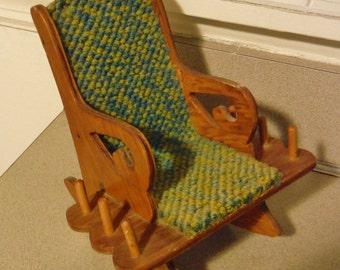 Vintage rocking chair pin cushion