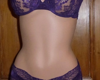 Christian Dior lace bra and panties vintage 80's