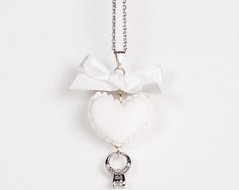 Heart Shaped Macaroon Necklace