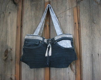 Upcycled Diva Denim Purse