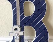 Nautical Wall Letters -Nautical Boy Room Decor, Nautical Baby Shower, Custom Name, Boy Nursery Decor, Kids Wall Art-any color and theme