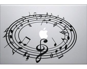 Music Note Macbook Decal Macbook Sticker  Laptop Decal Laptop Stickers Stickers Macbook