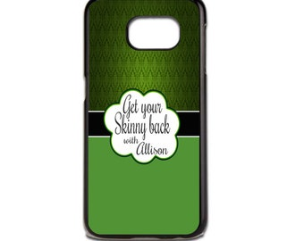 It Works Phone Case - Green Damask Case - Get your skinny back with (Your Name) - #skinnywrapdiva phone case- Iphone Case - Samsung Case