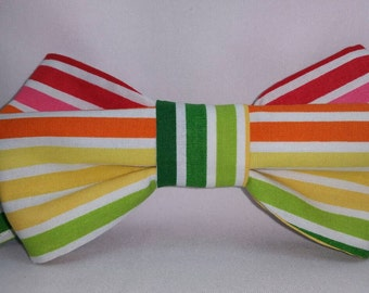 Rainbow Print Bowtie