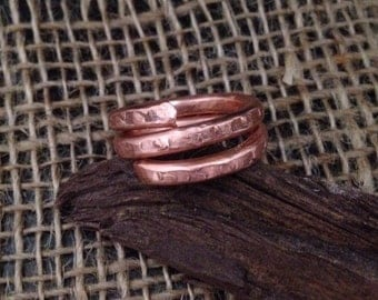 Substantial Wrap Copper Ring