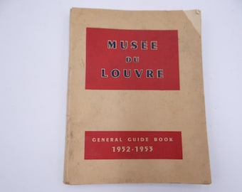 Vintage 1952-1953 Louvre Museum Guide Book