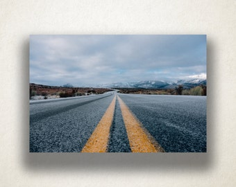 Desert Freeway Canvas Art, Freeway Wall Art, Road Canvas Print, Close Up Wall Art, Photograph, Canvas Print, Home Art, Wall Art Canvas