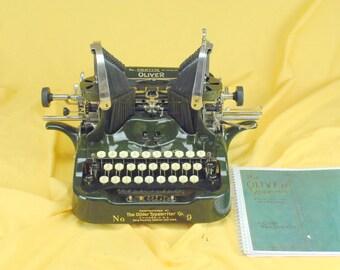 Refurbished  1915 Oliver Printype NO 9 Typewriter w/ Warranty #9