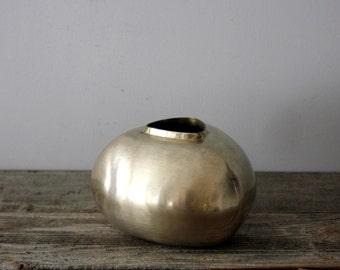 Vintage Mid Century Brass Vase or Planter