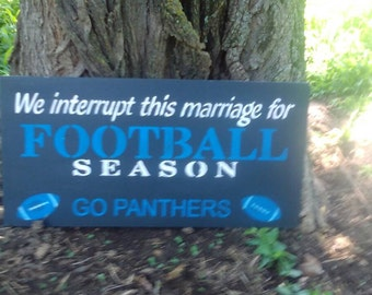 Carolina Panthers 9x18 Sign.