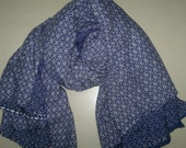 Square Scarf Rayon Scarf Indian Scarf Blue Scarf