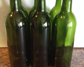 Recycled wine bottles 1 dozen