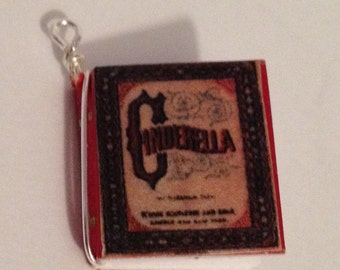 Cinderella mini book charm