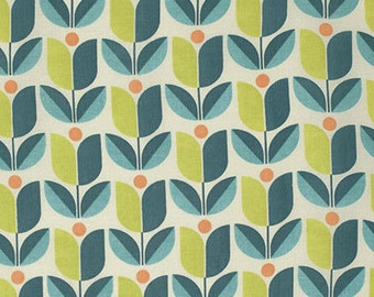 Tulip by Joel Dewberry Free Spirit Floral Teal Floral Fabric Lime Green Floral Orange Turquoise Teal Lime Green Modern Fabric