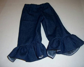 Denim Ruffle Pants in Sizes 6 Months to 8 Years