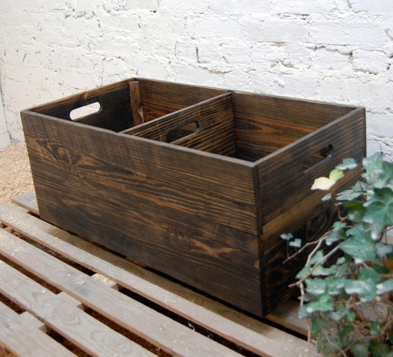 Rolling Crate With Divider Wooden Crate Toy Storage