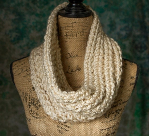 Knit Super Thick Infinity Scarf/Cowl