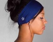 Twilight Blue FLAWLESS Headband by Manda Bees -  Moisture Wicking Fitness Yoga Headband - TWILIGHT
