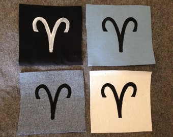 Aries Zodiac Sign Patch