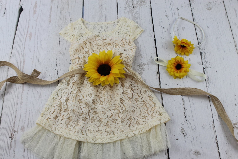 Flower Girl Dress Sunflower Flower Girl Dress By