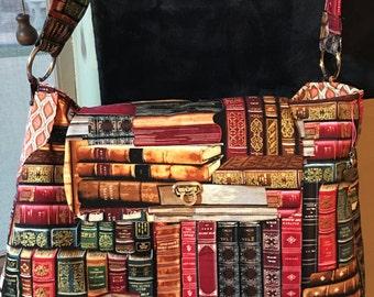 Library Book Purse/ Book Fabric Purse/ Readers Purse