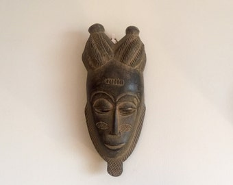 Vintage West African tribal mask, ethnic Boule, small size