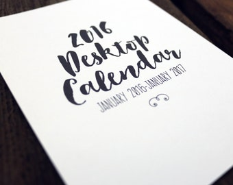 2016 Desktop Calendar {REFILL}