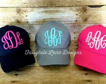 Monogram Baseball Cap - Monogrammed Hat - Tons of Color Options!