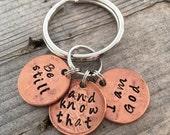Be Still key ring
