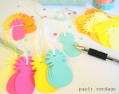 Pineapple Tags,Pineapple Gift Tags,Pineapple Summer Tags,Tropical Tags,Beach Party Tags,Beach Wedding Tags,Baby Shower Tags,Party Favor Tags