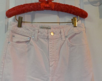 Retro Vintage Pink Size 4 Women's Cotton High Waist Jeans