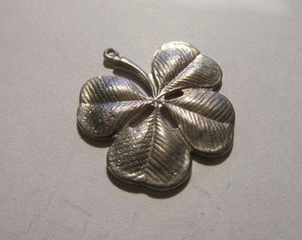 Dozen Good Luck Four Leaf Clover  Pendants