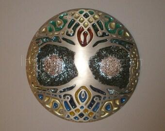 EMF Blocker Brushed Bronze Cold Cast Celtic Tree of Life Wall Plate.