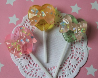 Sweetheart Lollipop Pin - Kawaii Decora Fairy Kei