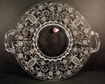 Prelude Serving Tray Vintage Serving Platter Picturesque Hollywood Regency Serving Piece
