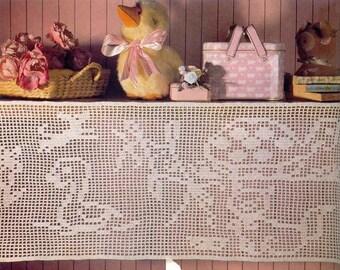 Lace turtle white drapery doily crochet