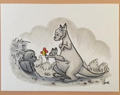 "Original, signed ""Wookiee the Chew"" drawing - ""Flowers Lead To Friendship"" by James Hance"