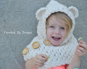 The Crochet Pixie Bear Hood