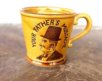 Vintage Mustache Mug, Hipster Gift