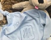 Infant boy gown, newborn gown, Baby Boy Monogrammed Infant Gown, Classic newborn gown, Monogramed baby boy gown