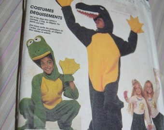 McCalls 3350 Adults Alligator Frog and Mermaid Costumes Sewing Pattern UNCUT - Size Medium ( 36 - 38 )